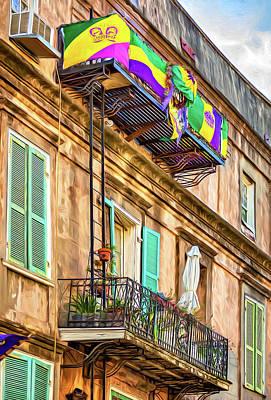 Fire Works Digital Art - French Quarter Architecture - Mardi Gras - Paint by Steve Harrington
