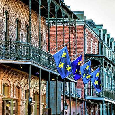 Photograph - French Quarter Balconies And Flags-nola by Kathleen K Parker