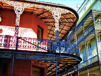 Photograph - French Quarter Balconies by Joan  Minchak