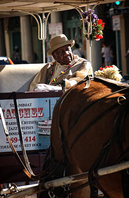 Horse Photograph - French Quarter Carriage by Chrystal Mimbs