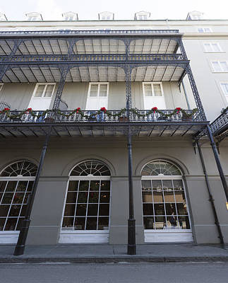 Photograph - French Quarter Christmas Balconies by Gregory Scott