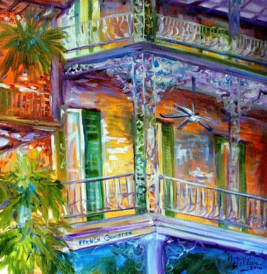 Nola Painting - French Quarter Cityscape by Marcia Baldwin