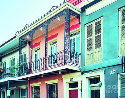 French Quarter Colorful Architecture Art Print