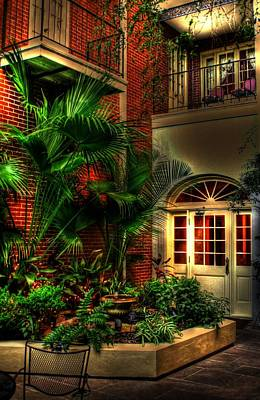French Quarter Courtyard Art Print by Greg and Chrystal Mimbs