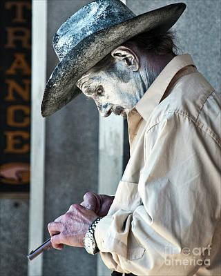 Olympic Sports - French Quarter Cowboy Mime by Kathleen K Parker