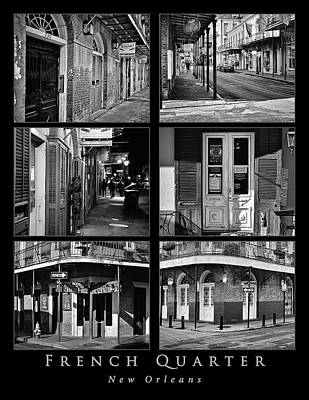 Photograph - French Quarter - New Orleans - Collage B/w by Greg Jackson