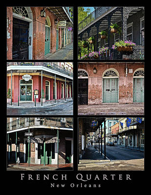 French Quarter - New Orleans - Collage Art Print