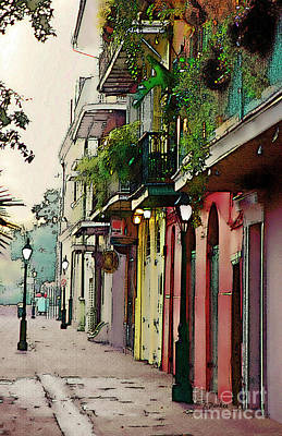 French Quarter New Orleans Art Print by Linda  Parker