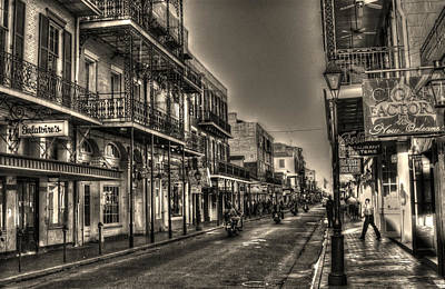 White Photograph - French Quarter Ride by Greg and Chrystal Mimbs