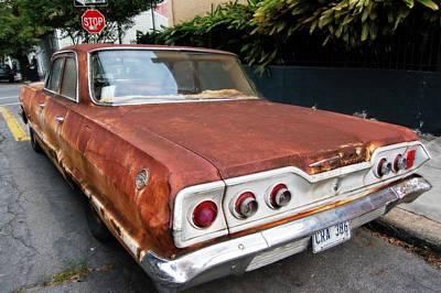 French Quarter Rusty Chevy Art Print