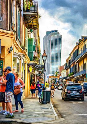 Louisiana Photograph - French Quarter Sidewalk 2 - Paint by Steve Harrington