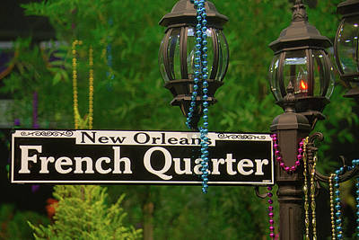 Photograph - French Quarter Sign by Garry Gay