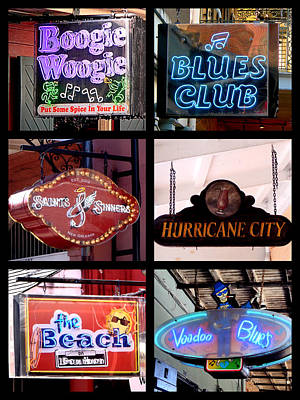 Photograph - French Quarter Signs Poster by Kathy K McClellan