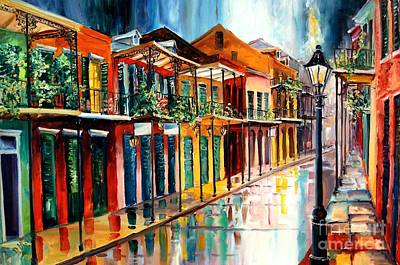 New Orleans Oil Painting - French Quarter Spring Rain by Diane Millsap