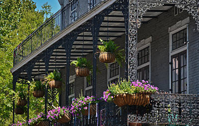 Photograph - French Quarter Sunlit Balcony - New Orleans by Greg Jackson