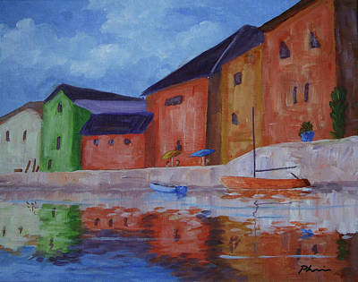 Bob Phillips Surf Art Painting - French Reflections by Bob Phillips