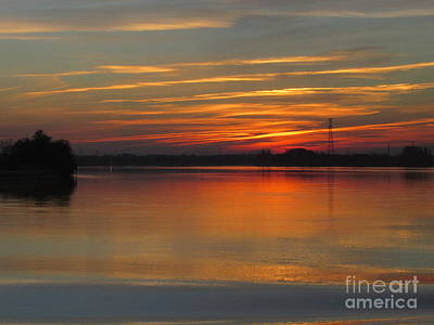 Photograph - French Riverside Sunset by Barbara Plattenburg