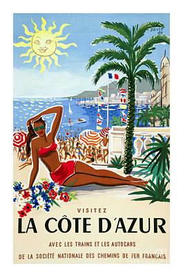 Bikini Photograph - French Riviera Travel Poster by Jon Neidert