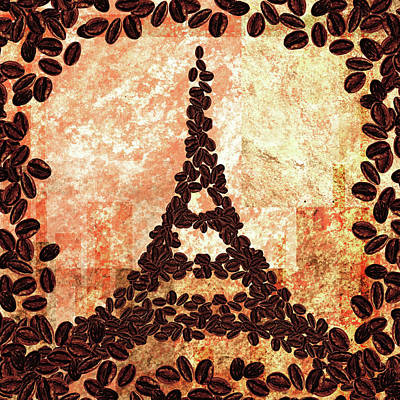 Painting - French Roast Eiffel Tower by Irina Sztukowski