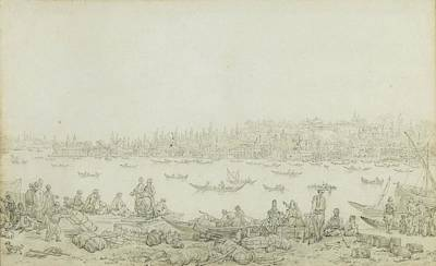 Seraglio Painting - French Seraglio Point Seen From Galata by Jean Baptiste