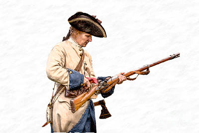 Historical Digital Art - French Soldier Reloading Musket by Randy Steele