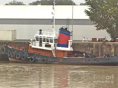 Photograph - French Tugboat by Barbara Plattenburg
