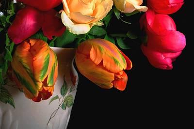 Tulip Mania Photograph - French Tulips Close-up by Rusalka Koroleva