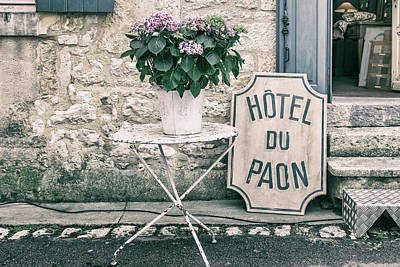 Country Cottage Photograph - French Village Hotel by Georgia Fowler