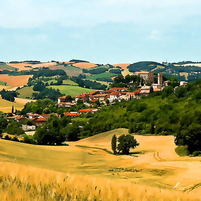 Photograph - French Village  II by Gareth Davies