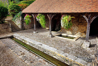 French Laundry Photograph - French Village Public Wash House by Olivier Le Queinec
