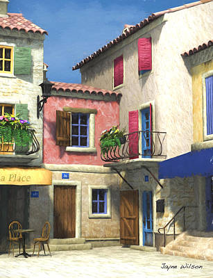 Digital Art - French Village Scene - Provence by Jayne Wilson