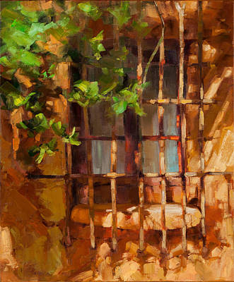 Antique Ironwork Painting - French Window by Becky Joy
