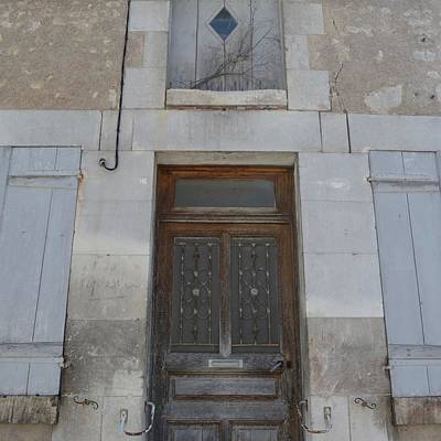 Photograph - French Window With Door by Cheryl Miller