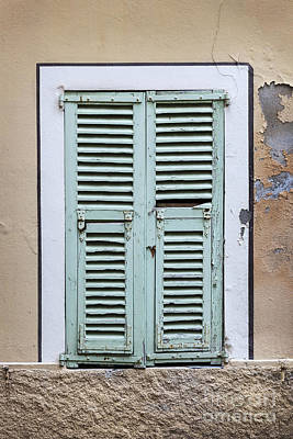 French Window With Shutters Print by Elena Elisseeva