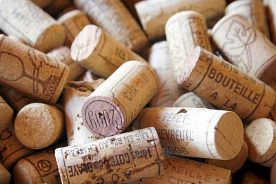 Beige Photograph - French Wine Corks by Georgia Fowler