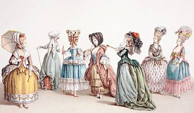 French Women S Fashions During The Print by Vintage Design Pics