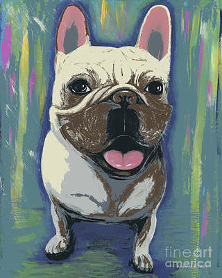 Painting - Frenchie Digitized by Ania M Milo