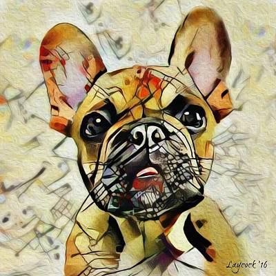 French Bulldog Digital Art - Frenchie by Jodi Laycock
