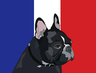 Digital Art - Frenchie Napoleon by Kristin Bowen