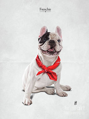 Art Print featuring the digital art Frenchie by Rob Snow