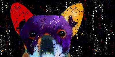 French Bull Dog Wall Art - Photograph - Frenchie Splash N Pop by Barbara Chichester