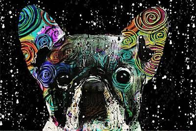 Bulldog Art Digital Art - Frenchitude by Barbara Chichester