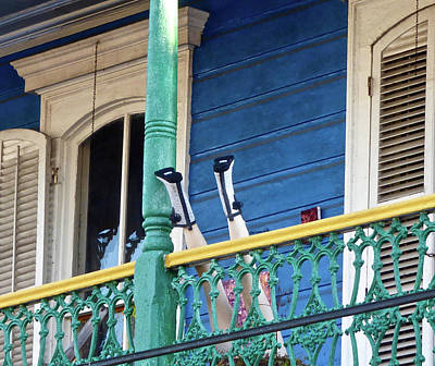 Photograph - Frenchmen St.  Balcony Legs  by Amelia Racca