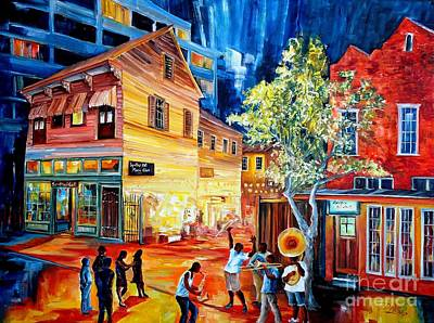 Musicians Paintings - Frenchmen Street Funk by Diane Millsap