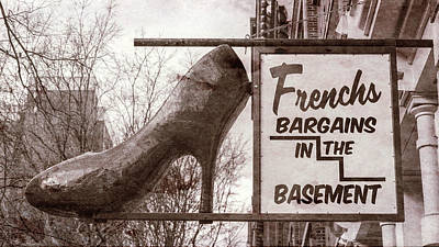 Stiletto Heel Photograph - Frenchs Bargain Basement by Stephen Stookey