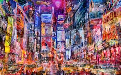 Digital Art - Frenzy New York City by Caito Junqueira