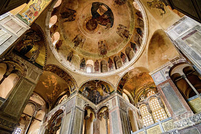 Frescoes And Mosaics Of The Church Of Holy Luke At Monastery Of Hosios Loukas In Greece Art Print
