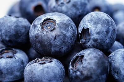 Fresh And Juicy Blueberries Closeup Art Print