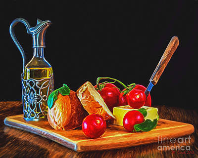 Photograph - Fresh Appetizers - Painting by Sue Karski