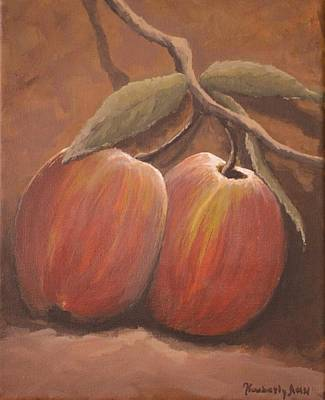 Fruit Tree Art Painting - Fresh Apples by Kimberly Benedict